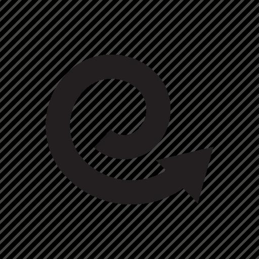 arrow, circle, direction, loop, swirl, way icon