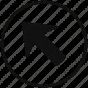arrow, corner, cross, left, up icon