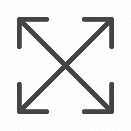 arrow, arrows, direction, down, fullscreen, pointer, up icon
