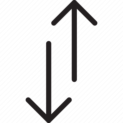 arrow, communication, direction, down, right, sort, up icon