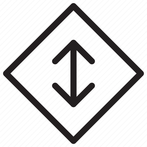 arrow, communication, direction, down, right, up icon