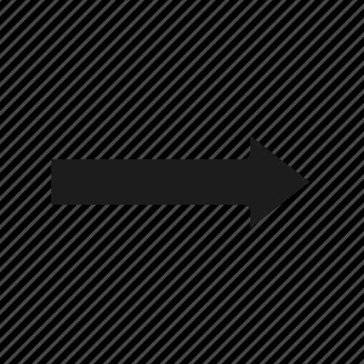 arrow, glyph, right icon
