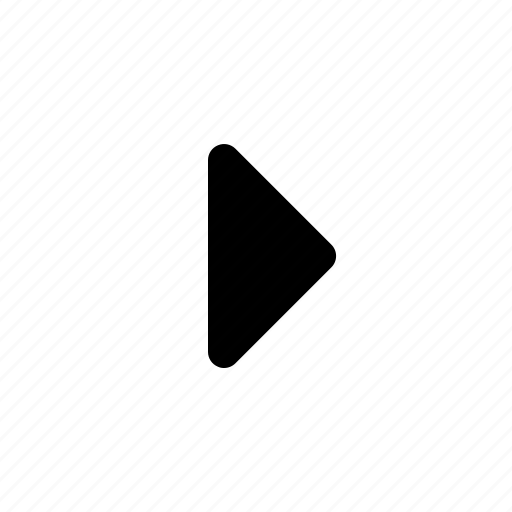 arrow, play, right, triangle icon