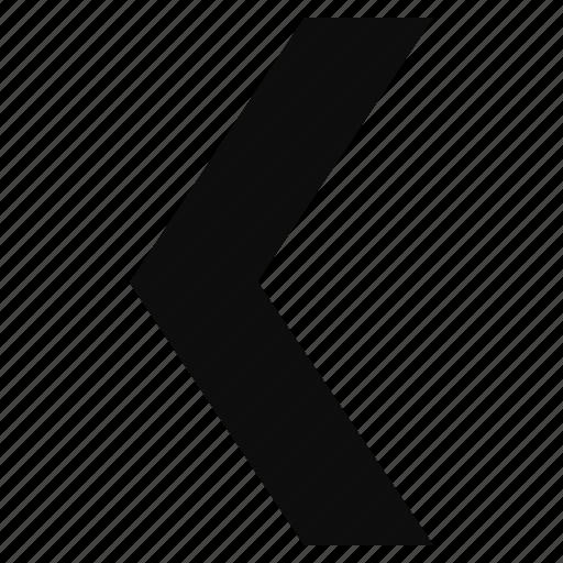 arrow, back, direction, left, previous icon