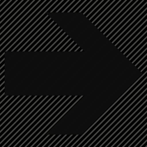 arrow, arrows, direction, forward, right icon