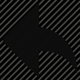arrow, back, direction, left, previous, redo icon