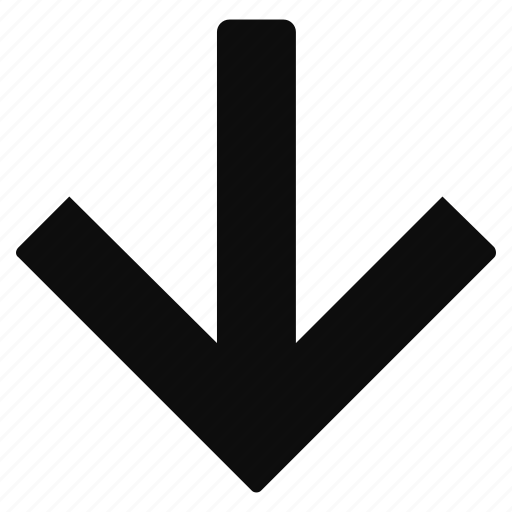 arrow, direction, down, expand icon
