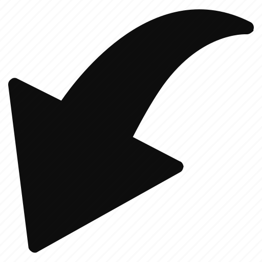 arrow, direction, down, redo icon