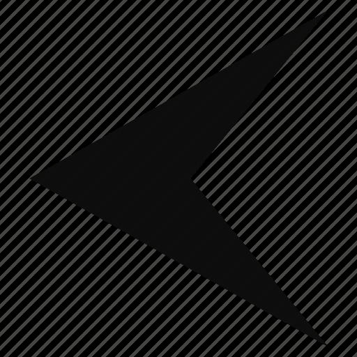 arrow, back, left, prev icon