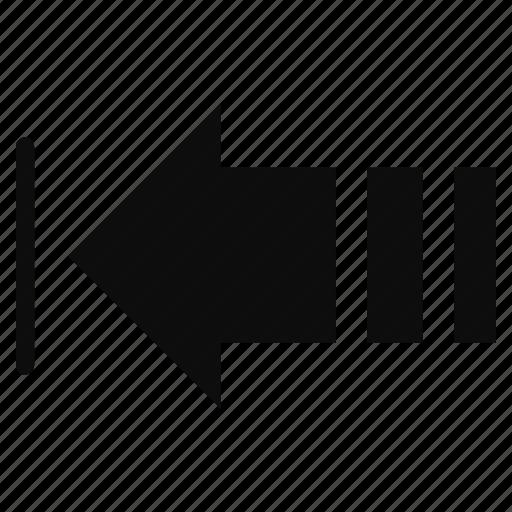 arrow, back, direction, previous icon