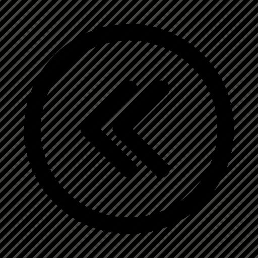arrow, direction, left, lines icon