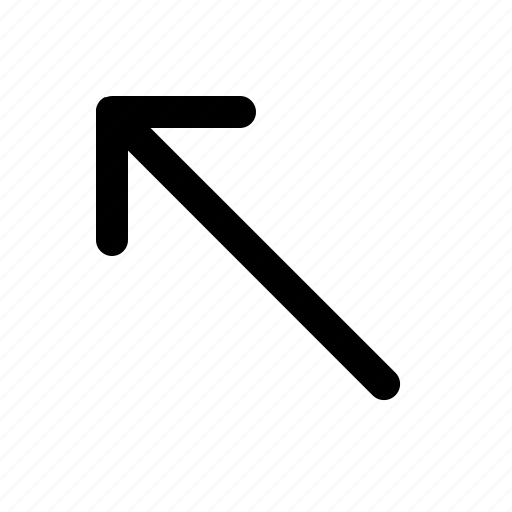 arrow, direction, left, lines, upper icon