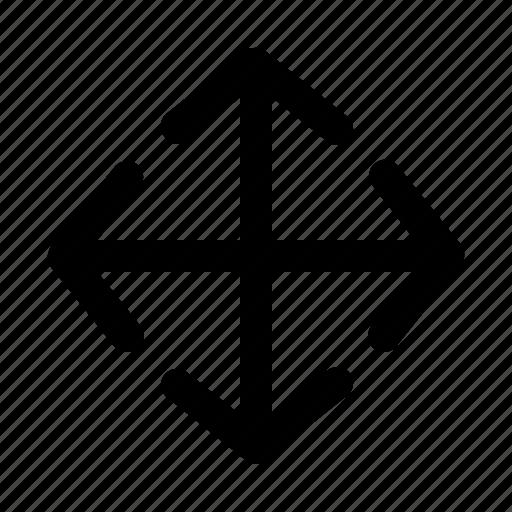 arrow, direction, lines, move icon
