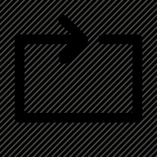 arrow, direction, lines, repeat icon