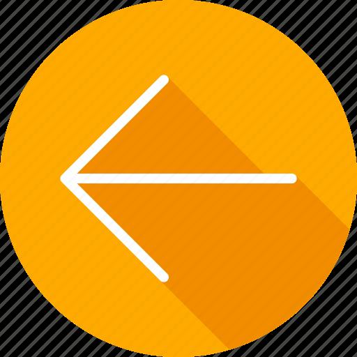 arrow, arrows, control, direction, directional, left, pointer, previous icon