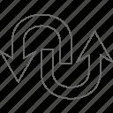 arrow, download, next, upload icon
