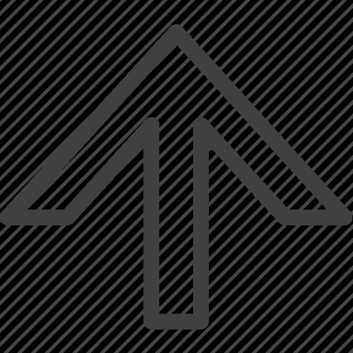 arrow, move, next, up icon