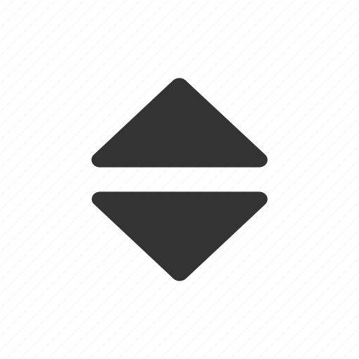 arrow, direction, down, triangle, up icon