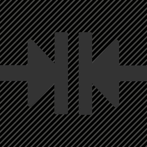 compress, minimize, press icon