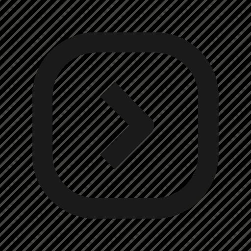 arrow, next, play icon