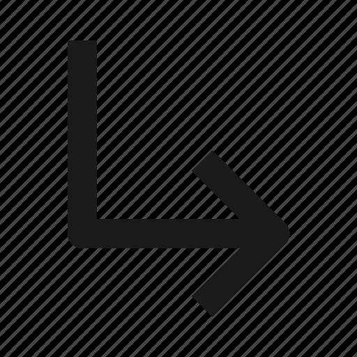 arrow, arrows, direction, right, turn icon