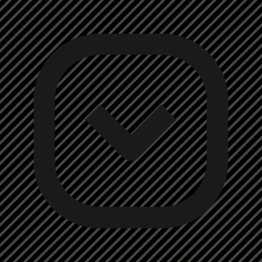 arrow, down, save icon