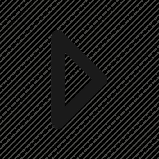 arrow, move, play, triangle icon