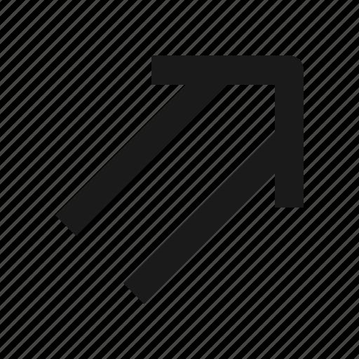 arrow, double, line, next icon
