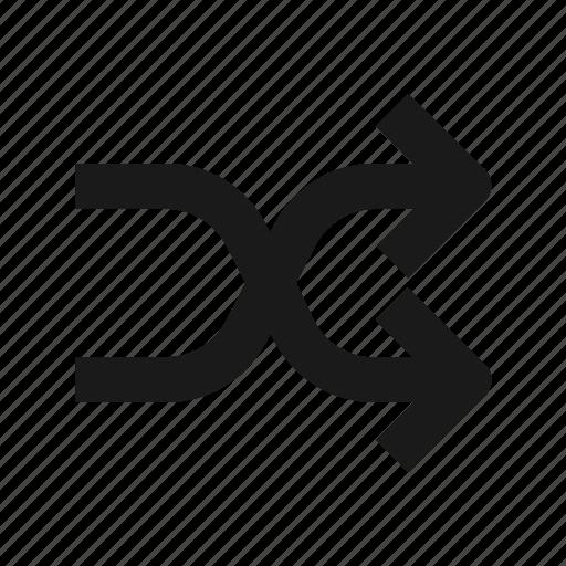 arrow, cross, random, shuffle, way icon
