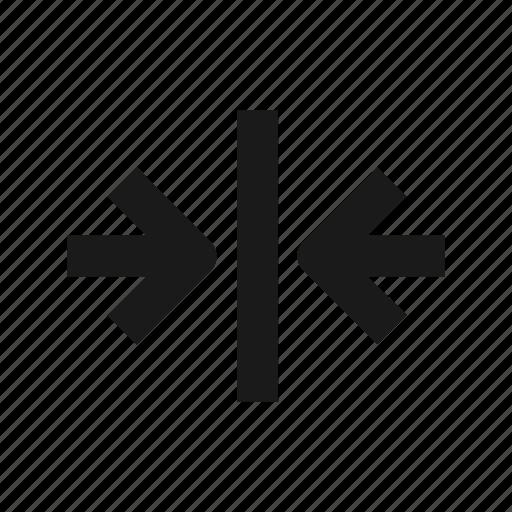 arrow, close, line icon