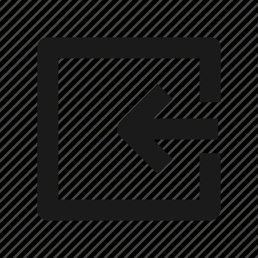 arrow, enter, in, log, login icon