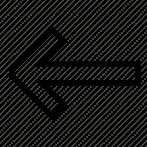 arrow, ico, left, line, only icon