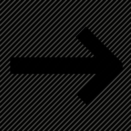 arrow, ico, line, right icon