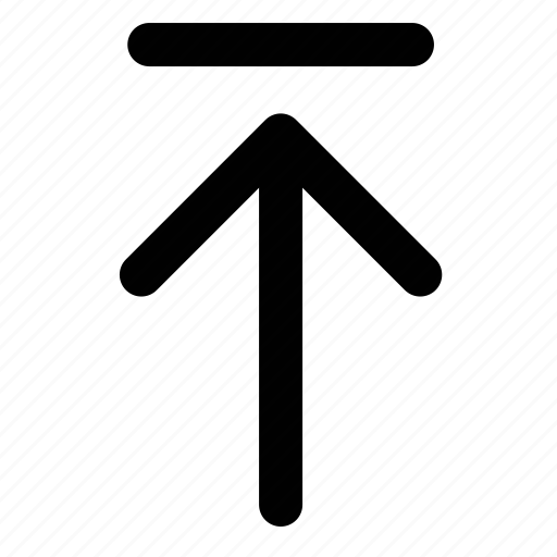 angle, arrow, direction, side, up, upload, upper icon