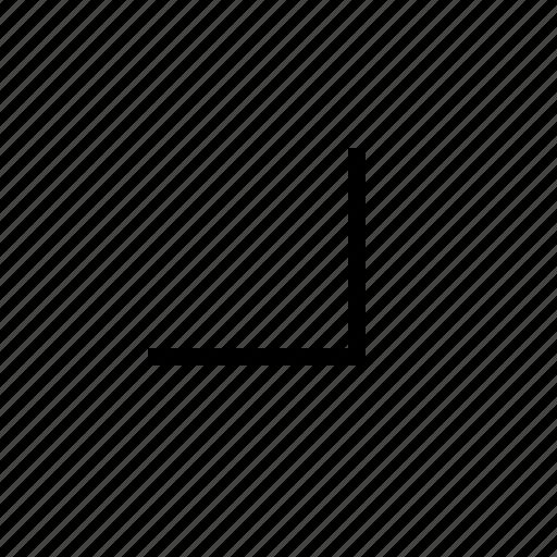 arrow, downright, right icon
