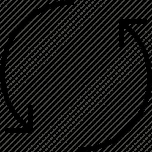 arrow, arrows, refresh, rotate icon