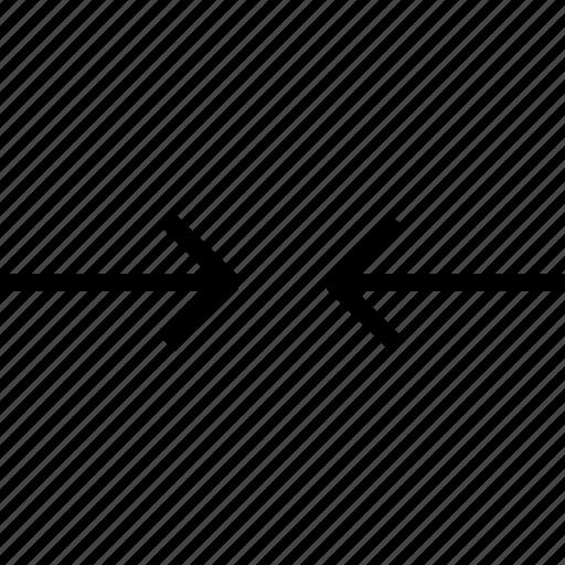 arrow, arrows, shrink icon