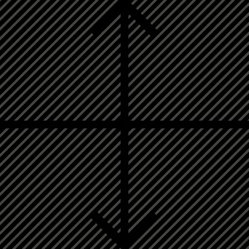 arrow, arrows, stretch icon