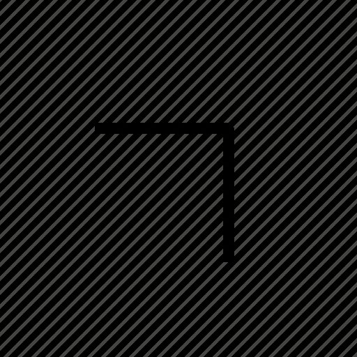 arrow, right, upright icon