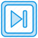 forwaed, media, music, player, stop, video icon