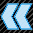 arrow, left, path, speed, way icon