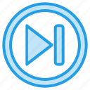 forwaed, media, music, player, stap, video icon