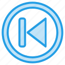 backward, media, music, player, step, video icon