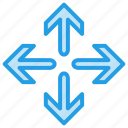 arrow, change, move, repositon, rotate icon