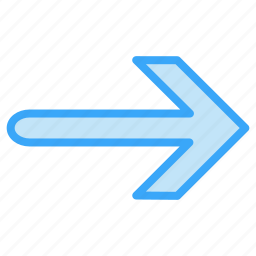 arrow, direction, right, top icon