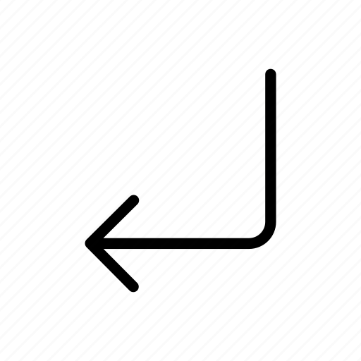 arrow, arrows, back, direction, document, down, download, grid, left, make, shape, turn icon