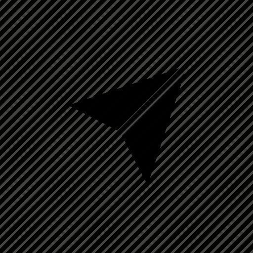 arrow, location, pin, right, up icon
