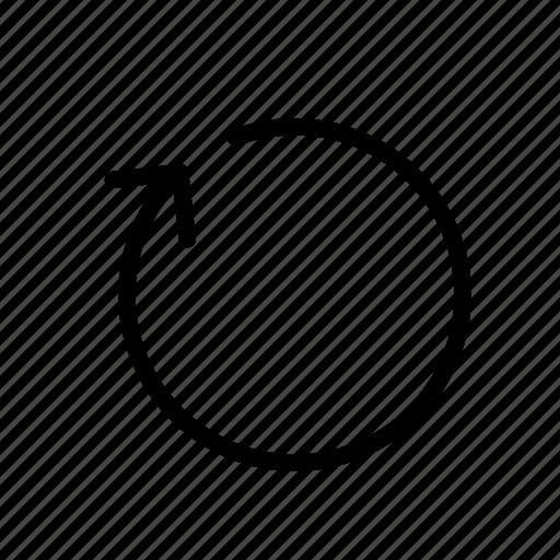 arrow, list, new, page, refresh icon