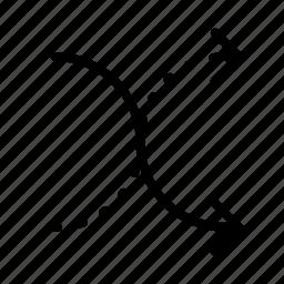 arrow, dash, dots, line, random icon