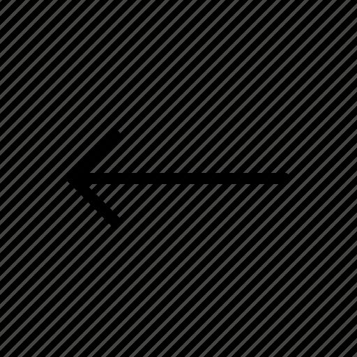 arrow, hotizontal, left, line, move icon